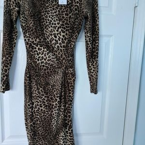 Animal Print Short Casual Dress